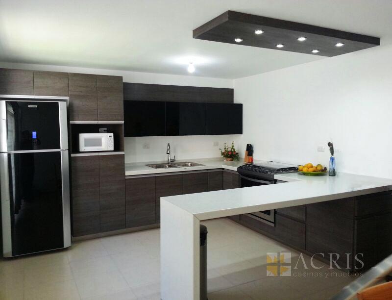 Cocinas acris for Cocina equipada negro y gris